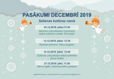 Decembra pasākumi Salienas KN